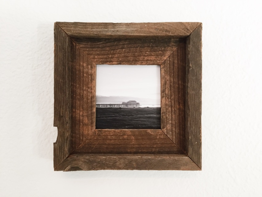 reclaimed redwood handmade double picture frame 4x4 - Double Picture Frame